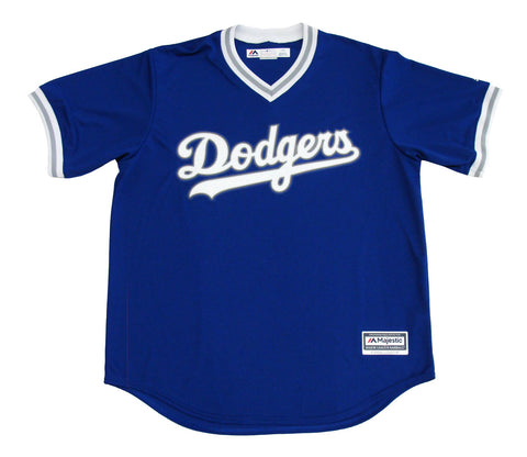 Los Angeles Dodgers Mens Jersey Majestic V-Neck Cool Base