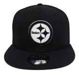 Pittsburgh Steelers Snapback New Era 9Fifty Black White Logo Hat Cap