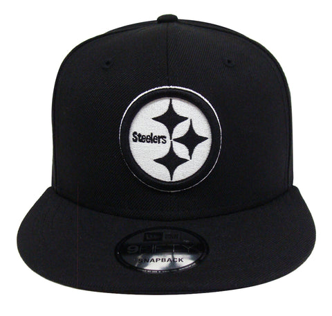 b6ea43341c9fb6 Pittsburgh Steelers Snapback New Era 9Fifty Black White Logo Hat Cap
