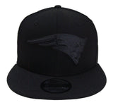 New England Patriots Snapback New Era 9Fifty Black on Black Hat