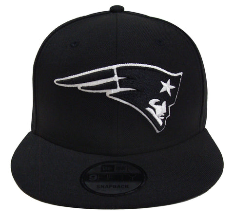 New England Patriots Snapback New Era 9Fifty Black White Logo Hat