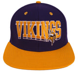 Minnesota Vikings Snapback Retro SL Cap Hat Purple Yellow