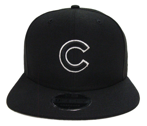 Chicago Cubs New Era Snapback Original Fit Black WO Cap Hat