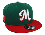 Mexico Snapback New Era 59Fifty Serie Del Caribe Green Red Cap Hat
