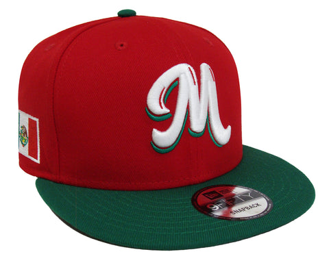 Mexico Snapback New Era 59Fifty Serie Del Caribe Red Green Cap Hat