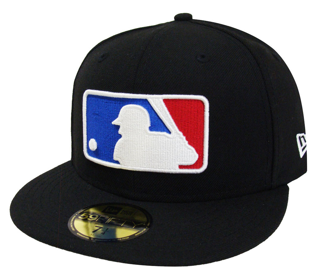 d09bdd4ac62 Major League Baseball MLB Fitted Logo New Era Cap Hat Black – THE 4TH  QUARTER