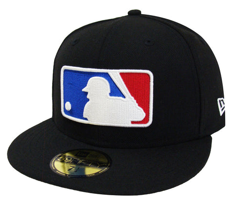 Major League Baseball MLB Fitted Color Logo New Era Cap Hat Black