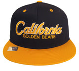 Cal Golden Bears Snapback Script Cap Hat Navy Yellow