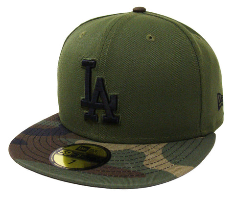 on sale 50d2b 7131d Los Angeles Dodgers Fitted New Era 59FIFTY Green Camo Cap Hat