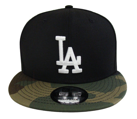Los Angeles Dodgers Snapback New Era 9FIFTY Black Camo Cap Hat
