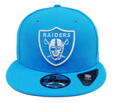 Oakland Raiders Snapback New Era 9FIFTY Logo Arctic Blue Cap Hat