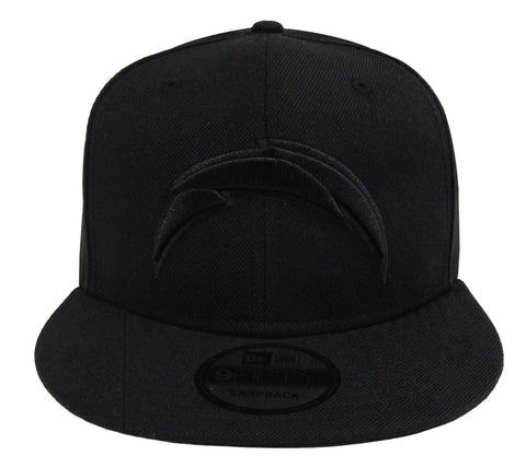 Los Angeles Chargers Snapback New Era Black on Black Cap Hat