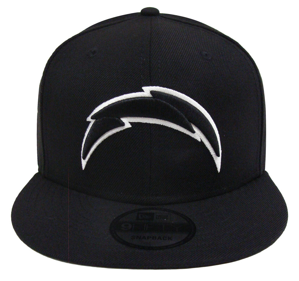 e854cbd8 Los Angeles Chargers Snapback New Era Black White Outline Cap Hat