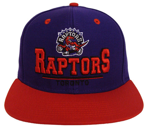 Toronto Raptors Snapback Retro 3D Cap Hat Purple Red