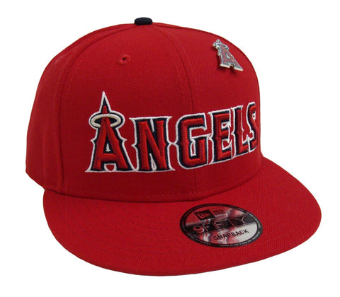 Anaheim Angels Snapback New Era 9Fifty Pinned Red