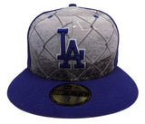 Los Angeles Dodgers Fitted New Era 59FIFTY Round Dway Blue Cap Hat