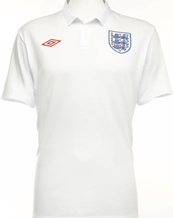 England Soccer Jersey 2010 World Cup White Polo