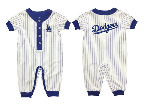 Los Angeles Dodgers Infant Majestic Pin Stripe Pajamas