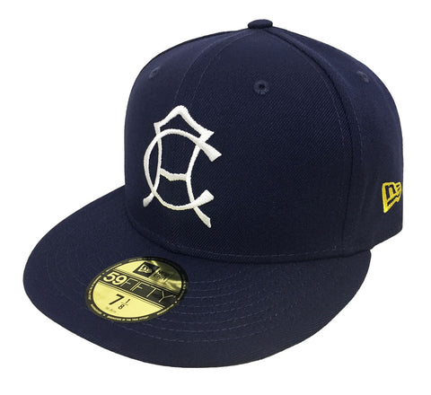 Club America Fitted New Era 59Fifty Retro Logo Cap Hat Navy