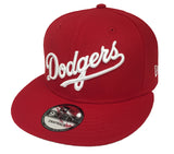 Los Angeles Dodgers Snapback New Era Wordmark Red Cap Hat