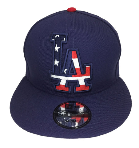 Los Angeles Dodgers Snapback New Era 9Fifty Flag Fill Cap Hat Blue