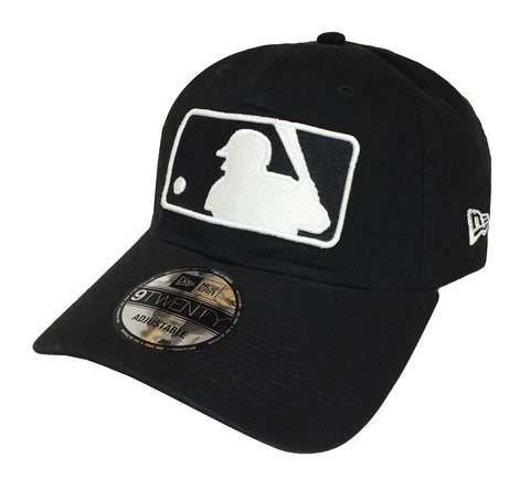Major League Baseball MLB Strapback New Era 9Twenty Logo Cap Hat Black White