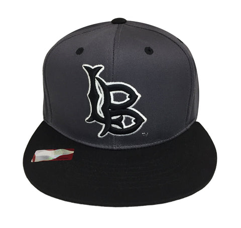 Cal State Long Beach Snapback Logo Snapback Cap Hat Grey Black