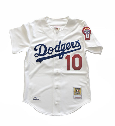 Los Angeles Dodgers Mens Jersey Mitchell & Ness Authentic #10 Ron Cey 1981 White