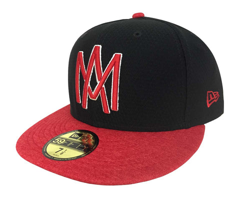 Aguilas de Mexicali Fitted New Era 59Fifty Shadow Black Hat Cap
