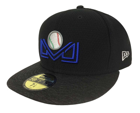 Liga Mexicana Pacifico Fitted New Era 59Fifty Mexican Pacific Baseball League Shadow Black Hat Cap