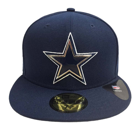 Dallas Cowboys Fitted New Era 59Fifty Metal & Thread Navy Cap Hat