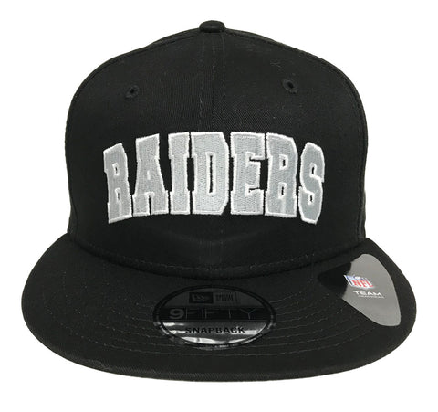 Oakland Raiders Snapback New Era 9Fifty Block Word Black Hat Cap