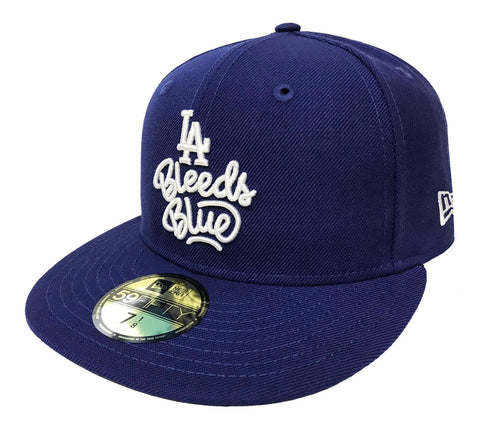 Los Angeles Dodgers Fitted New Era 59Fifty Bleeds Blue Cap Hat