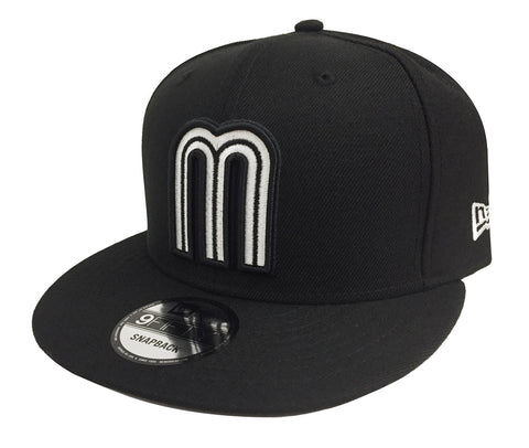 Mexico Snapback New Era 9FIFTY World Baseball Classics Black White Cap Hat