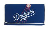 Los Angeles Dodgers Wallet Ladies Mesh Trifold Organizer Clutch Embroidered
