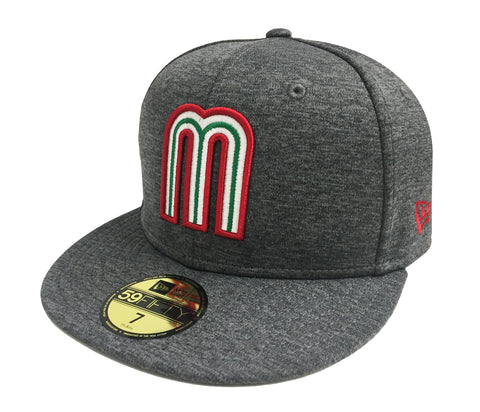Mexico Fitted New Era 59FIFTY World Baseball Classics Heather Charcoal Cap Hat