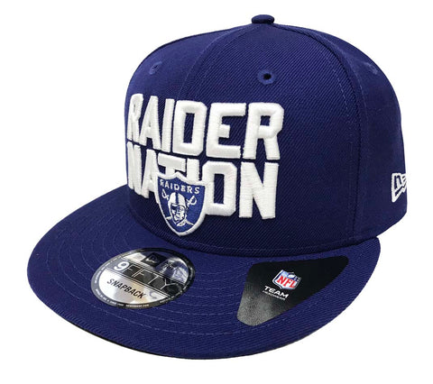 Oakland Raiders Snapback New Era 9Fifty Raider Nation Hat Cap Royal Blue