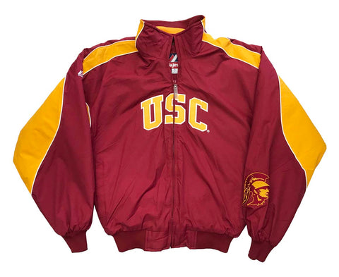 USC Trojans Mens Jacket Majestic Windbreaker Red
