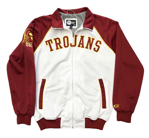 USC Trojans Mens Jacket G-III Track 2 Tone White Red