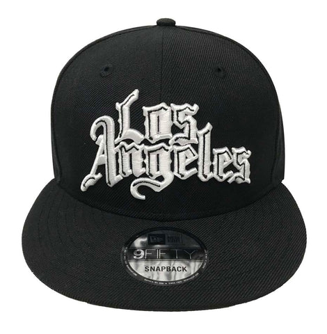 Los Angeles Clippers Snapback 9Fifty New Era City Edition Black White Cap Hat
