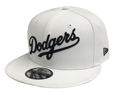 Los Angeles Dodgers Snapback New Era 9FIFTY Wordmark White Cap Hat