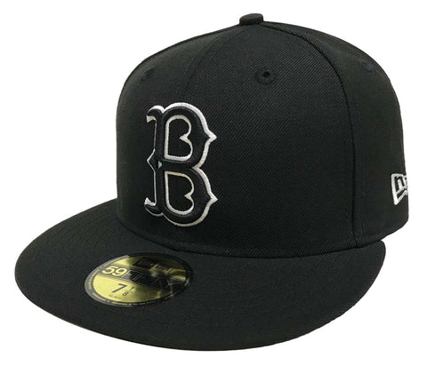 Brooklyn Dodgers Fitted New Era 59FIFTY White Outline Black Cap Hat