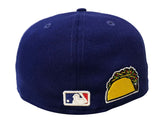 Los Angeles Dodgers Fitted New Era 59Fifty Describe Blue Cap Hat Green Bottom