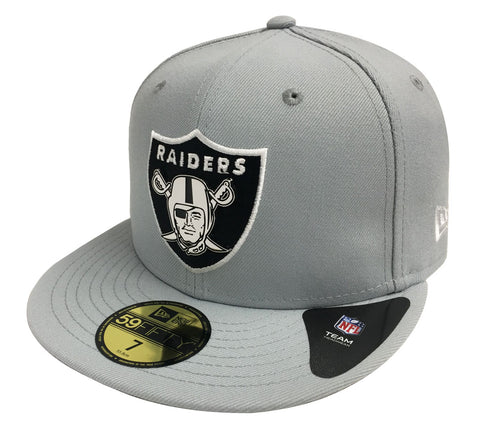 Oakland Raiders Fitted New Era 59Fifty Metal Thread Hat Cap