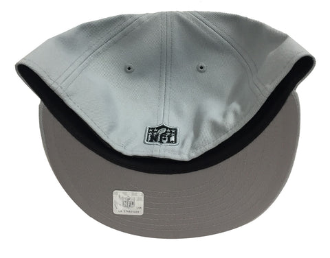 Oakland Raiders Fitted New Era 59Fifty Metal Thread Hat Cap – THE ... c9cb5b3c9