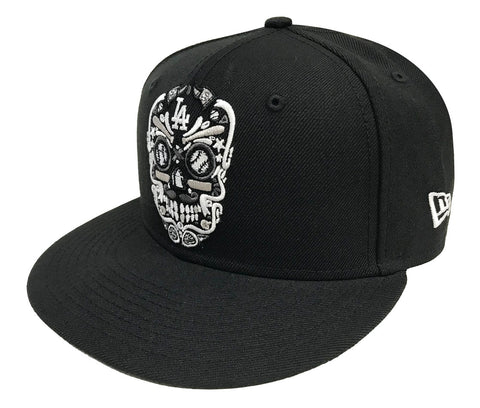 Los Angeles Dodgers Snapback New Era 9Fifty Skull Candy Black Hat Cap