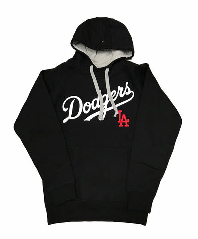 Los Angeles Dodgers Mens Sweatshirt Antigua Victory Pullover Hoodie Black