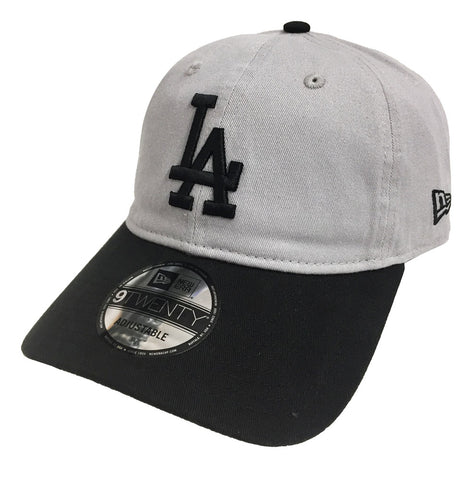 Los Angeles Dodgers Strapback New Era 9Twenty Adjustable Grey Black Cap Hat