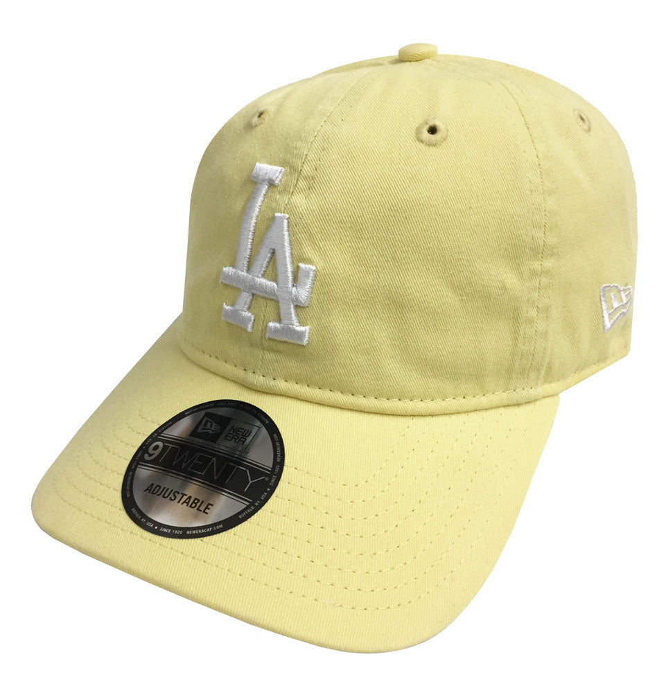 Los Angeles Dodgers Strapback New Era 9Twenty Adjustable Pastel Yellow Cap  Hat dee3ce5d08a