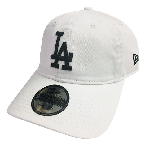 fd1aedf405a Los Angeles Dodgers Strapback New Era 9Twenty Adjustable White Cap Hat
